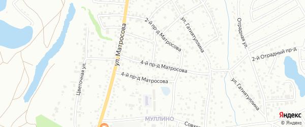 Матросова 3-й проезд на карте Октябрьского с номерами домов