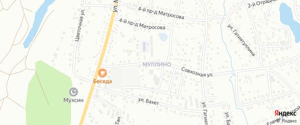 Совхозная улица на карте Октябрьского с номерами домов