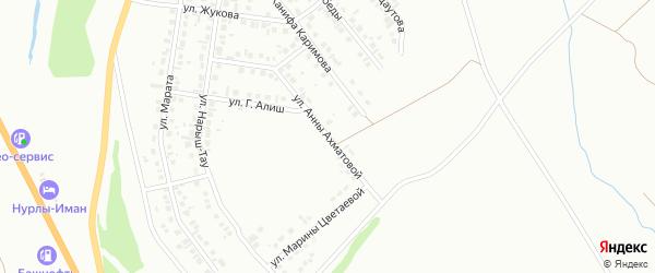 Улица А.Ахматовой на карте Октябрьского с номерами домов