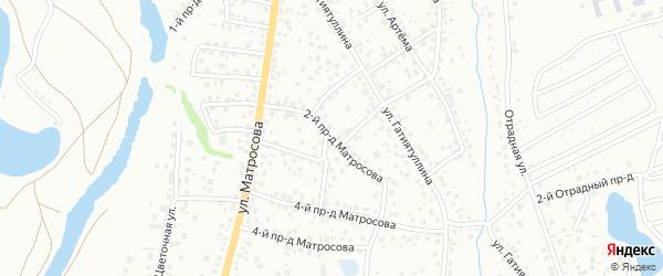 Луговой 2-й проезд на карте Октябрьского с номерами домов