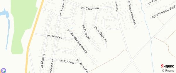 Улица Победы на карте Октябрьского с номерами домов