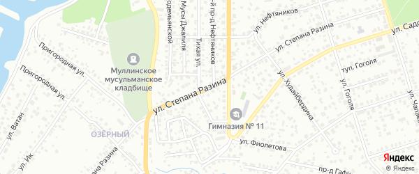 Улица Степана Разина на карте Октябрьского с номерами домов