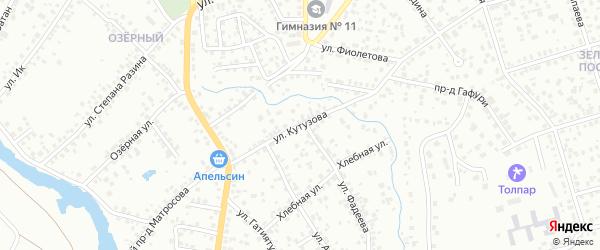 Улица Кутузова на карте Октябрьского с номерами домов