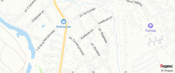 Улица Артема на карте Октябрьского с номерами домов
