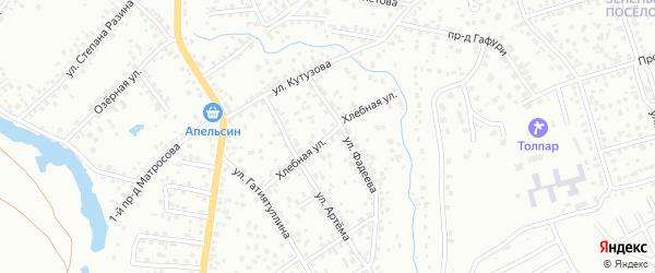 Хлебная улица на карте Октябрьского с номерами домов