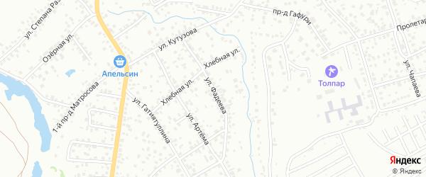 Улица Фадеева на карте Октябрьского с номерами домов