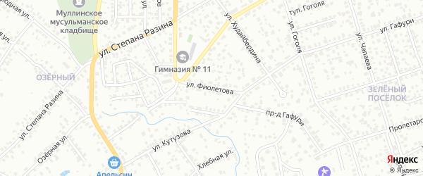 Улица Фиолетова на карте Октябрьского с номерами домов