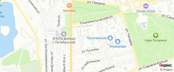 Кольцо Пугачева на карте Октябрьского с номерами домов