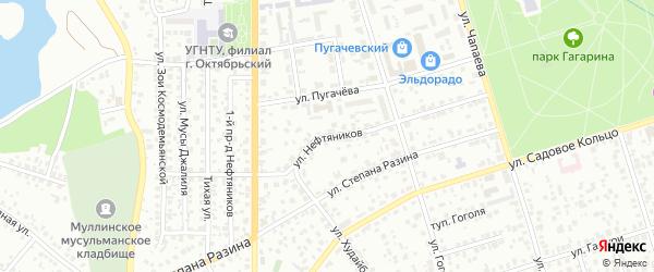 Нефтяников 3-й проезд на карте Октябрьского с номерами домов