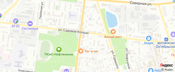 ГСК 14 на карте Октябрьского с номерами домов