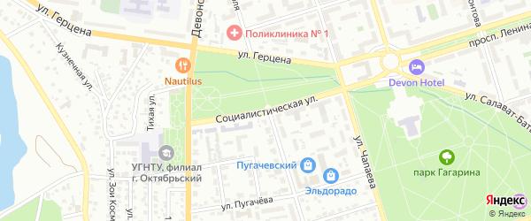 Социалистическая улица на карте Октябрьского с номерами домов