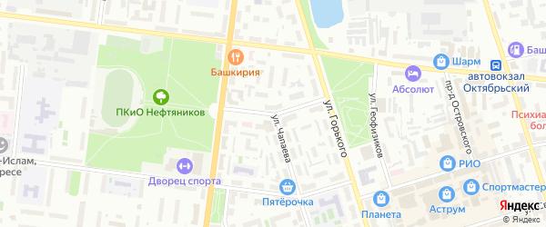 Советская улица на карте Октябрьского с номерами домов