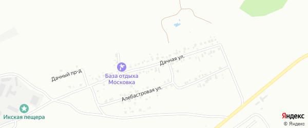 Дачная улица на карте Октябрьского с номерами домов