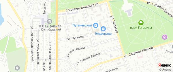Улица Пугачева на карте Октябрьского с номерами домов
