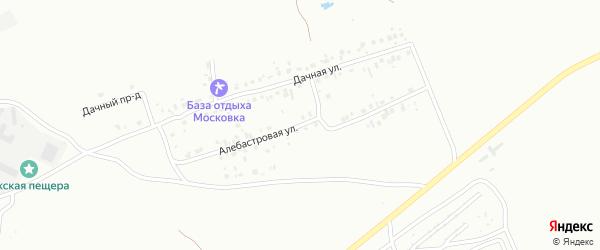 Алебастровая улица на карте Октябрьского с номерами домов