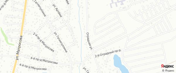 Отрадная улица на карте Октябрьского с номерами домов
