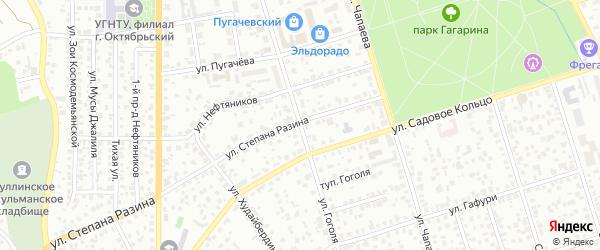Улица Николая Разгогяева на карте Октябрьского с номерами домов