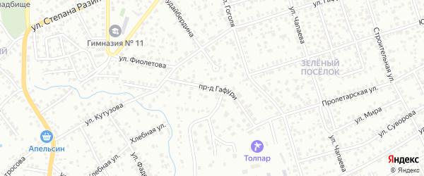 Проезд Гафури на карте Октябрьского с номерами домов