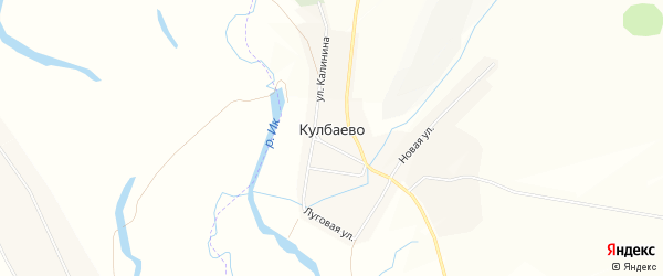 Карта села Кулбаево в Башкортостане с улицами и номерами домов