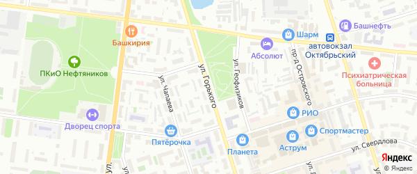 Улица Горького на карте Октябрьского с номерами домов