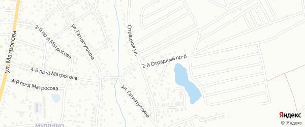 Отрадный проезд на карте Октябрьского с номерами домов
