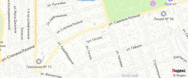 Тупик Гоголя на карте Октябрьского с номерами домов