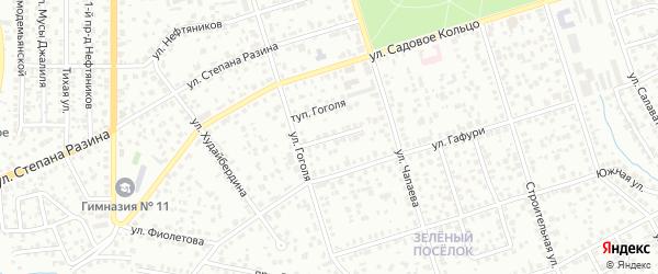 Проезд Гоголя на карте Октябрьского с номерами домов