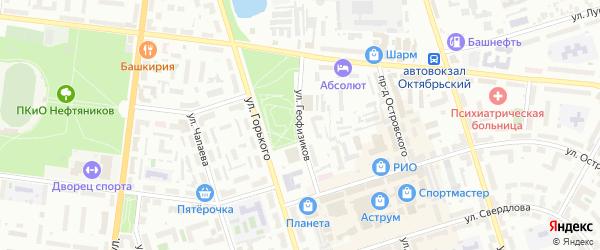 Улица Геофизиков на карте Октябрьского с номерами домов