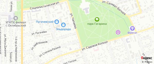 Улица Чапаева на карте Октябрьского с номерами домов