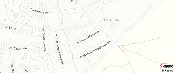 Улица Е.Мухиной на карте Октябрьского с номерами домов