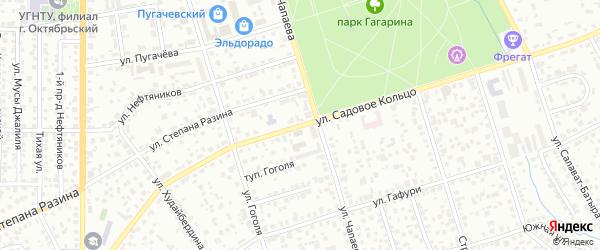 Улица Садовое Кольцо на карте Октябрьского с номерами домов