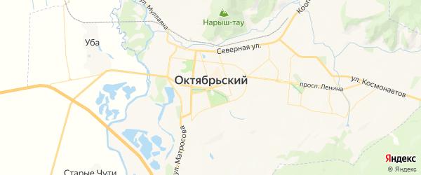 Карта Октябрьского с районами, улицами и номерами домов