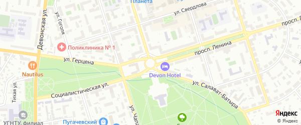 Улица З.Валиди на карте Октябрьского с номерами домов