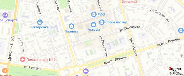 Улица Свердлова на карте Октябрьского с номерами домов