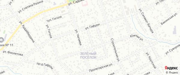 Южный 1-й проезд на карте Октябрьского с номерами домов