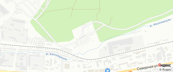 Железнодорожная улица на карте Октябрьского с номерами домов