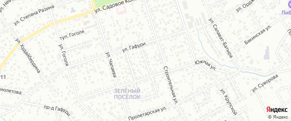 Кооперативный 2-й проезд на карте Октябрьского с номерами домов