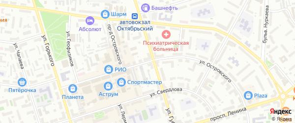 Улица Островского на карте Октябрьского с номерами домов