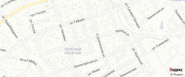Южная улица на карте Октябрьского с номерами домов