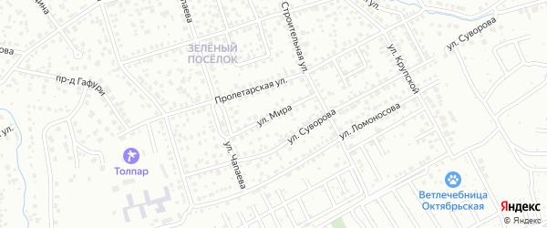 Улица Мира на карте Октябрьского с номерами домов
