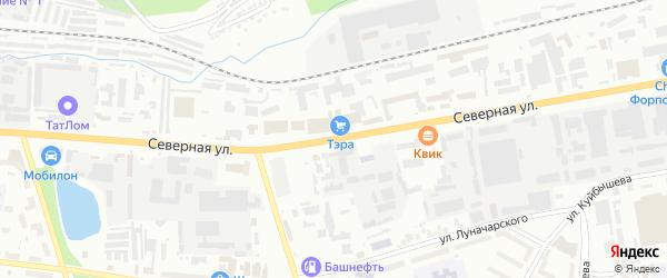 Северная улица на карте Октябрьского с номерами домов