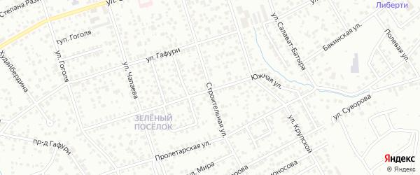 Строительная улица на карте Октябрьского с номерами домов