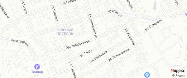 Пролетарская улица на карте Октябрьского с номерами домов