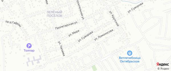 Улица Суворова на карте Октябрьского с номерами домов