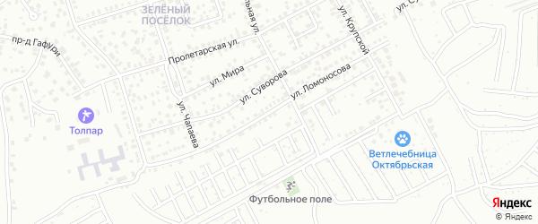 Улица Ломоносова на карте Октябрьского с номерами домов