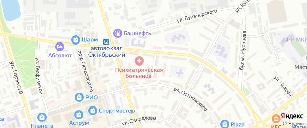 Улица Мичурина на карте Октябрьского с номерами домов