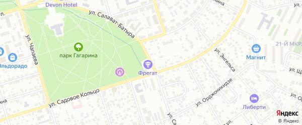 Улица Салавата Батыра на карте Октябрьского с номерами домов