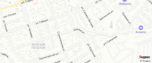 Крупской 1-й тупик на карте Октябрьского с номерами домов