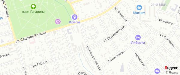 Кольцо Салават-Батыра на карте Октябрьского с номерами домов