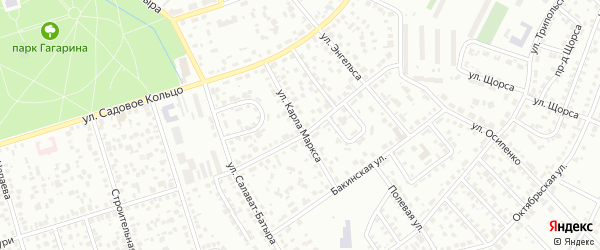 Улица К.Маркса на карте Октябрьского с номерами домов